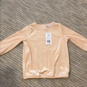 NWT Splendid Pale Pink Velour Top, 12-18 months